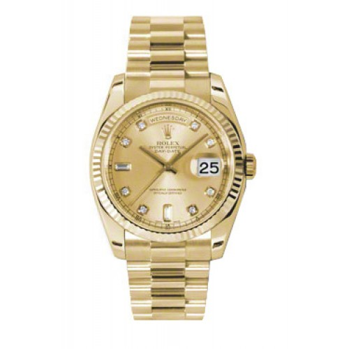 309dc16f0b7 Rolex Day-Date 36 mm Champagne Diamond Dial Yellow Gold 118238 CDP