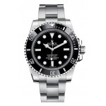 Rolex Submariner Black Dial Ceramic Bezel Steel Mens Watch 114060