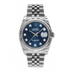 Rolex Datejust Blue Diamond Dial Fluted Bezel Jubilee 116234 LDJ