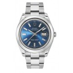 Rolex Datejust II Blue Dial Stainless Steel Automatic Mens Watch 116300BLIO