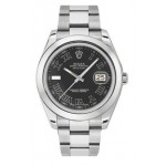 Rolex Datejust II Black Dial Stainless Steel Oyster Mens Watch 116300BKRO