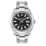 Rolex Datejust II Black Dial Stainless Steel Automatic Mens Watch 116300BKIO