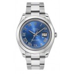 Rolex Datejust II Blue Roman Dial Stainless Steel Mens Watch 116300BLRO