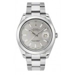 Rolex Datejust II Automatic Silver Dial Stainless Steel Mens Watch 116300SIO