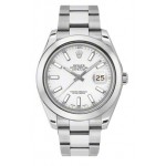 Rolex Datejust II White Dial Stainless Steel Automatic Mens Watch 116300WIO