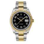 Rolex Datejust II Two-tone Oyster Bracelet Mens Watch 116333BKAO