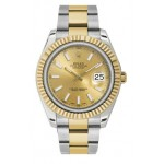 Rolex Datejust II Champagne Dial 18k Two-tone Gold Mens Watch 116333CHIO