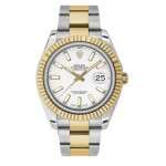 Rolex Datejust II White Dial Automatic Stainless Steel and 18kt Yellow Gold Mens Watch 116333WIO
