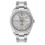 Rolex Datejust II Automatic Rhodium Dial Stainless Steel Mens Watch 116334GAO