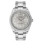 Rolex Datejust II Automatic Silver Dial Stainless Steel Mens Watch 116334SIO