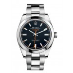 Rolex Milgauss Black Index Dial Domed Bezel Oyster Bracelet Mens Watch 116400 BKO