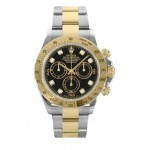 Rolex Daytona Black Diamond Dial Oyster Bracelet Mens Watch 116523BKD