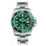 Rolex Submariner Green Dial Ceramic Bezel Steel Mens Watch 116610LV