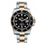 Rolex Submariner Gold And Steel Black Dial 116613 LN