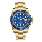 Rolex Submariner Yellow Gold Blue Dial 116618 LB