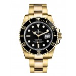 Rolex Submariner Yellow Gold Black Dial 116618 LN