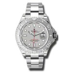 Rolex Yachtmaster Grey Index Dial Oyster Bracelet Mens Watch 116622
