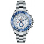 Rolex Yacht Master II White Dial Blue Bezel Stainless Steel Automatic Mens Watch 116680