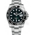 Rolex GMT Master II Black Index Dial Oyster Bracelet Steel 116710 LN