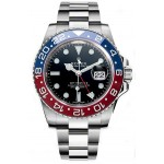 Rolex GMT Master II Black Dial 18kt White Gold Mens Watch 116719 BLRO