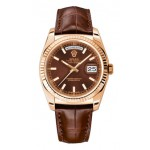Rolex Day-Date 36 mm Brown Index Dial Rose Gold 118139 BRXL