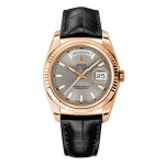 Rolex Day-Date 36 mm Rhodium Index Dial Rose Gold 118139 GRXL