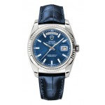 Rolex Day-Date 36 mm Blue Index Dial White Gold 118139 LXL