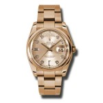 Rolex Day-Date 36 mm Pink Champagne Diamond Dial Everose Gold 118205 CHDO
