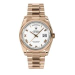 Rolex Day-Date 36 mm White Roman Numeral Dial Everose Gold 118205 WRP