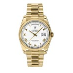 Rolex Day-Date 36 mm White Roman Numeral Dial Yellow Gold 118208 WRP