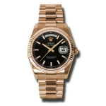 Rolex Day-Date 36 mm Black Index Dial Everose Gold 118235 BKSP