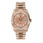 Rolex Day-Date 36 mm Rose Index Dial Everose Gold 118235 RXP