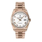 Rolex Day-Date 36 mm White Roman Numeral Dial Everose Gold 118235 WRP