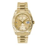 Rolex Day-Date 36 mm Champagne Diamond Dial Yellow Gold 118238 CDP