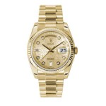 Rolex Day-Date 36 mm Champagne Jubilee Diamond Dial Yellow Gold 118238 CJDP
