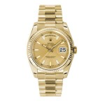 Rolex Day-Date 36 mm Champagne Index Dial Yellow Gold 118238 CXP