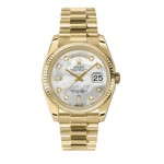Rolex Day-Date 36 mm Mother Of Pearl Diamond Dial Yellow Gold 118238 MDP