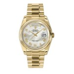 Rolex Day-Date 36 mm Mother Of Pearl Roman Dial Yellow Gold 118238 MRP