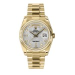 Rolex Day-Date 36 mm Meteorite Diamond Dial Yellow Gold 118238 MTD