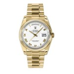 Rolex Day-Date 36 mm White Roman Numeral Dial Yellow Gold 118238 WRP