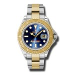 Rolex Yachtmaster Blue Index Dial Oyster Bracelet Mens Watch 16623