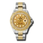 Rolex Yachtmaster Champagne Index Dial Oyster Bracelet Mens Watch 16623