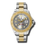 Rolex Yacht Master Grey Dial Automatic Steel and 18kt Yellow Gold Oyster Mens Watch 16623G