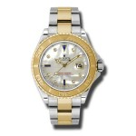 Rolex Yacht Master Mother of Pearl Diamond Dial Steel and Yellow Gold Mens Watch 16623MDS