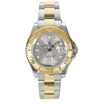 Rolex Yacht Master Grey Dial Automatic Yellow Gold Stainless Steel Oysterlock Unisex Watch 168623