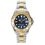 Rolex Yachtmaster Blue Index Dial Oyster Bracelet Two Tone Unisex Watch 168623BL
