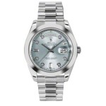 Rolex Day-Date II Ice Blue Diamond Dial Platinum President 218206 BD