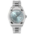 Rolex Day-Date II Ice Blue Roman Diamond Dial Platinum President 218206 RD