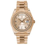 Rolex Day-Date II Champaign Diamond Dial Automatic 18kt Everose Gold 218235 CHDP