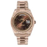 Rolex Day-Date II Brown Roman Dial Automatic 18kt Everose Gold 218235 BRRP